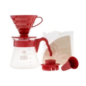 Hario Coffee Server V60 Pour Over Kit Red