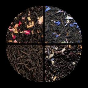 Czarny zestaw herbat 4 x 100g