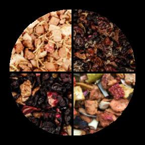 Owocowy zestaw herbat 4 x 100g