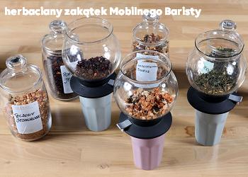 herbaciany zakątek mobilnego baristy