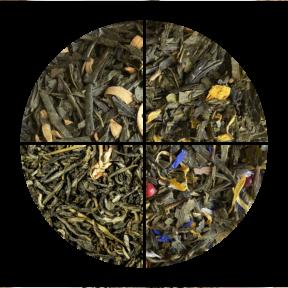 Zielony zestaw herbat 4 x 100g