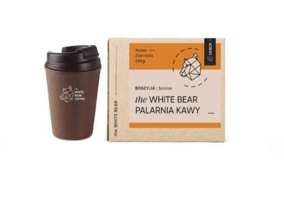 Zestaw Kawa 250g + Kubek z Łuski Kawowej 300 ml