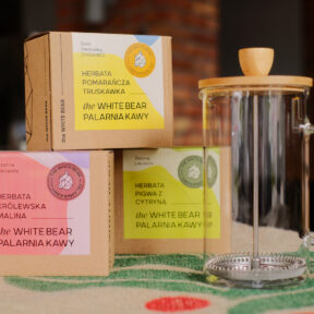 Zestaw Frenchpress 600 ml + trzy herbaty 100 g