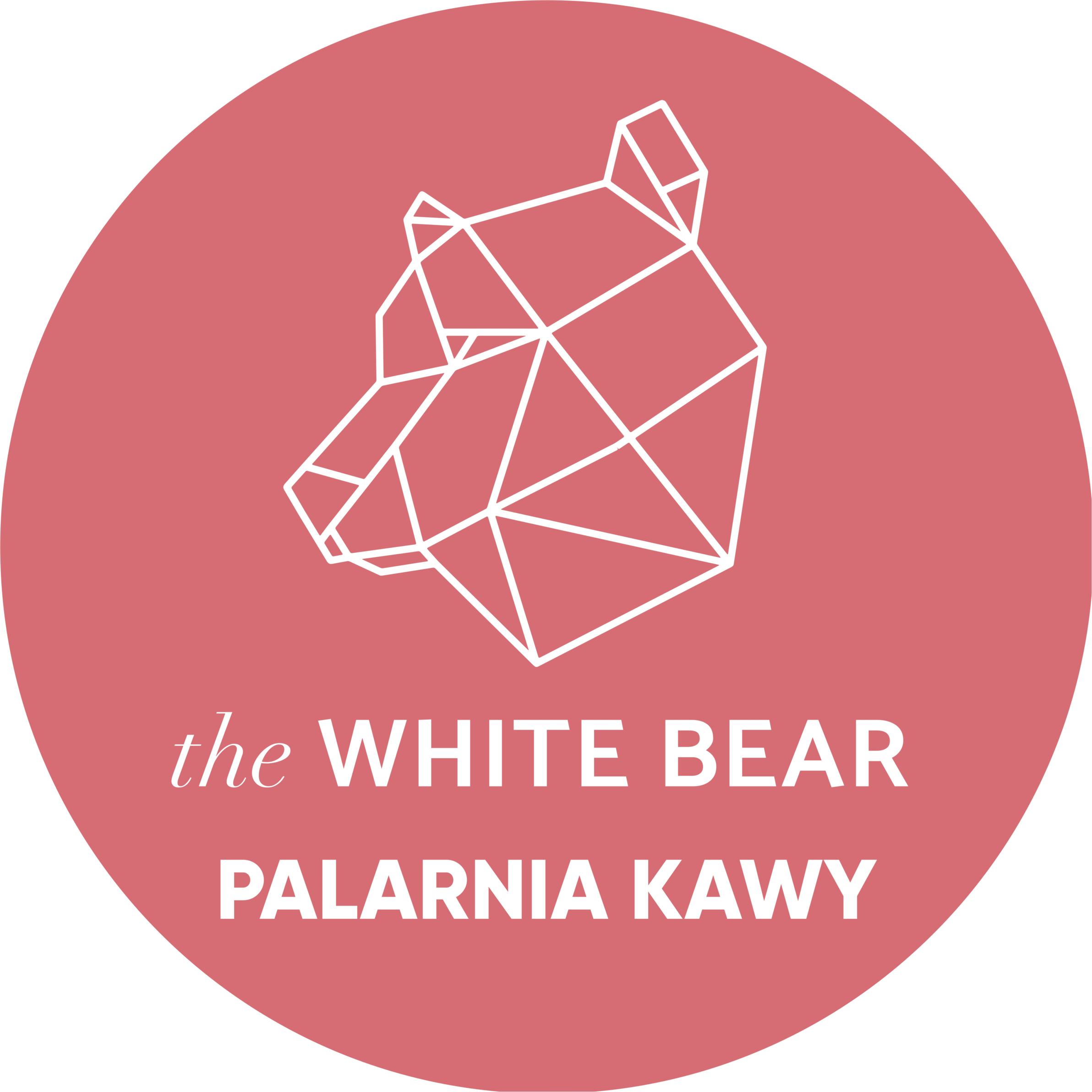 logo palarni kawy - the White Bear